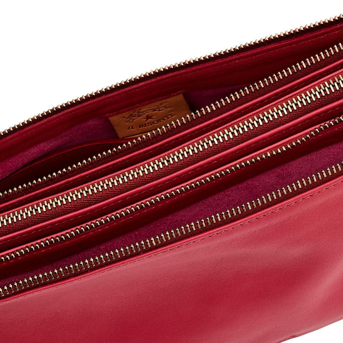 Sac Epaule pour Femme  en Cuir De Vachette Souple BSH093 couleur Sumac | Details
