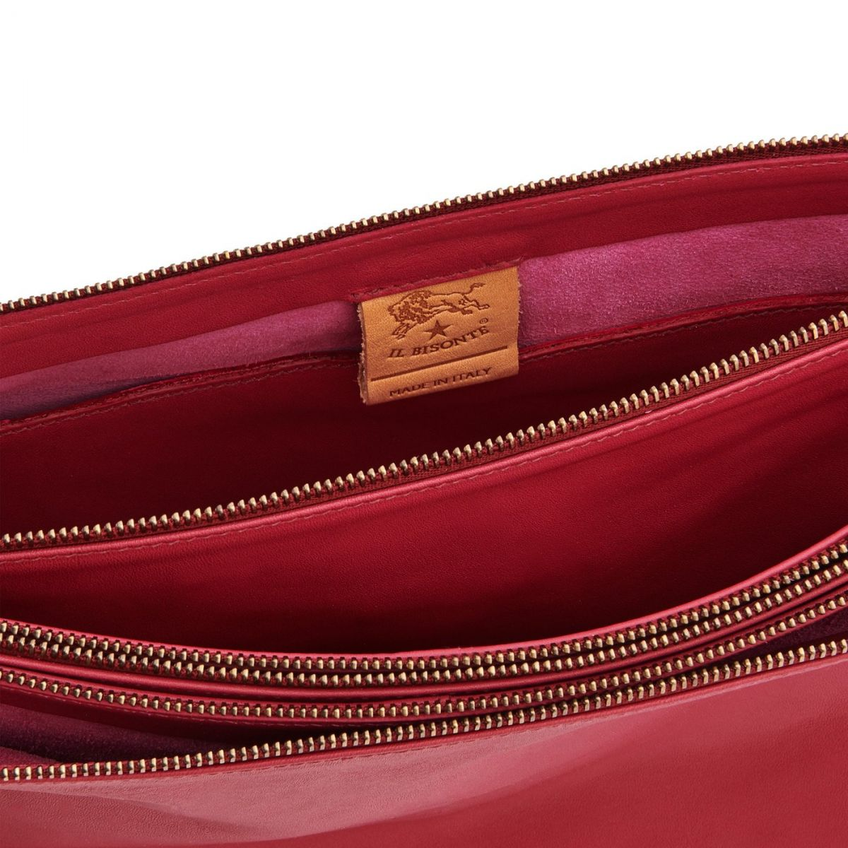 Women's Shoulder Bag  in Soft Cowhide Leather BSH094 color Sumac | Details