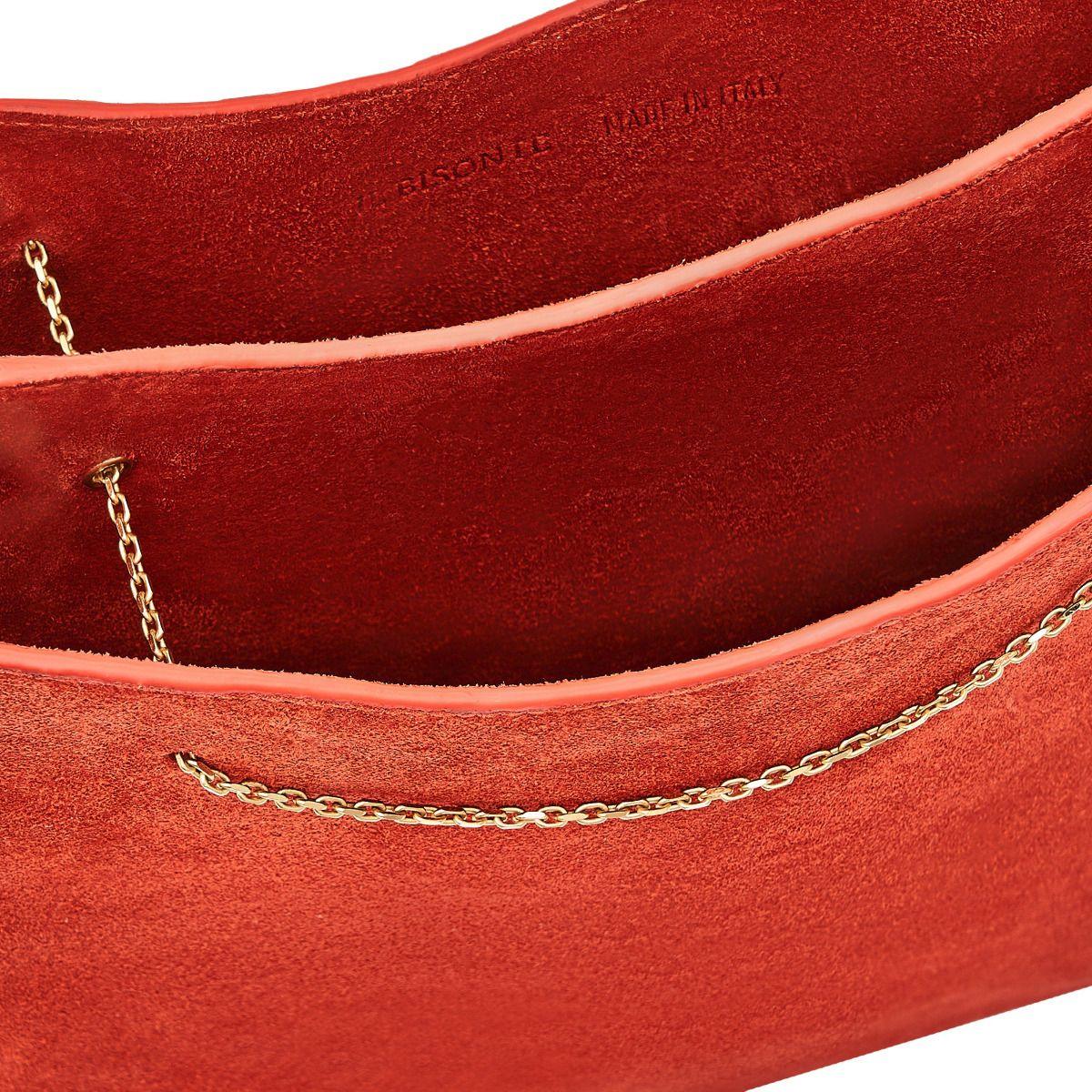 Giglio - Women's Shoulder Bag in Re-Suede color Pink - Mediterranea line BSH132 | Details