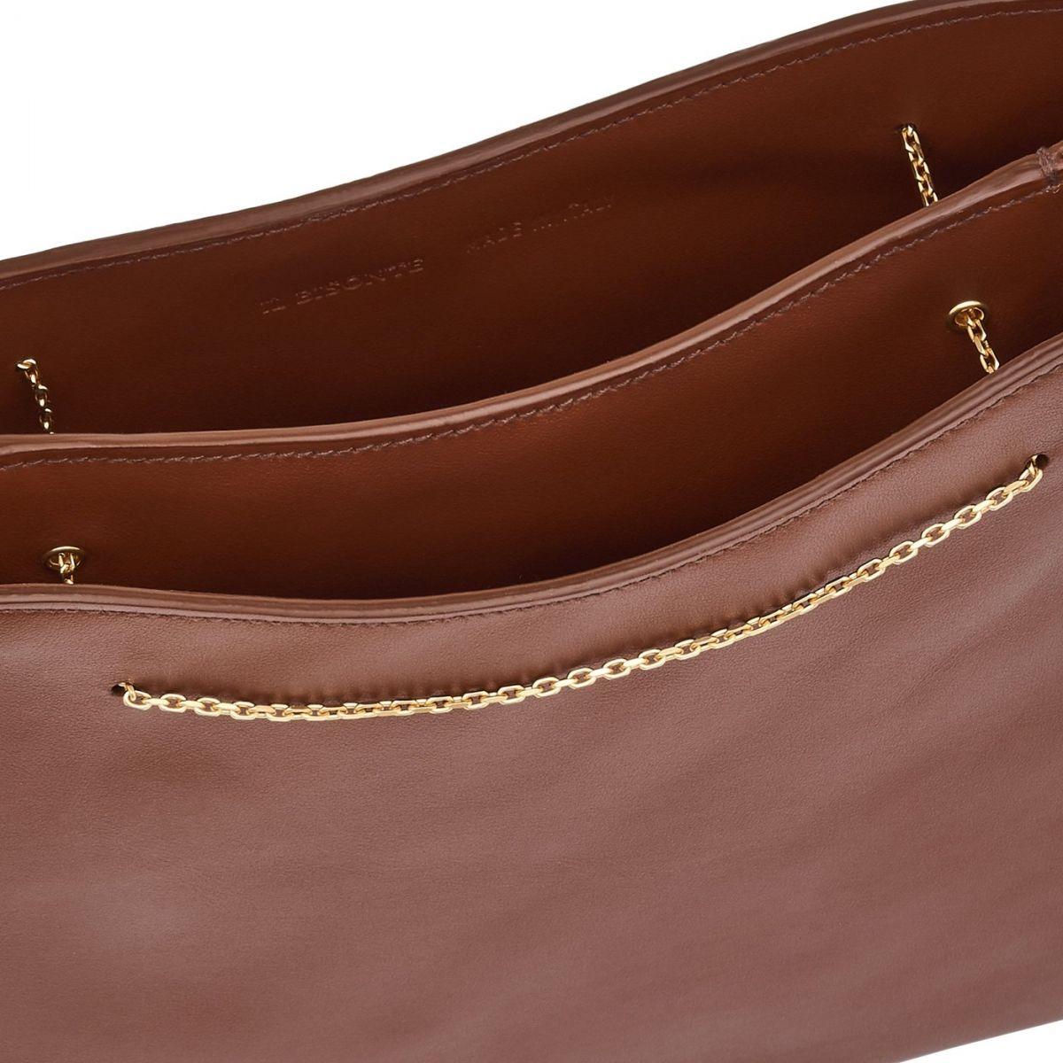 Giglio - Women's Shoulder Bag Mediterranea in Calf Leather BSH132 color Tobacco | Details