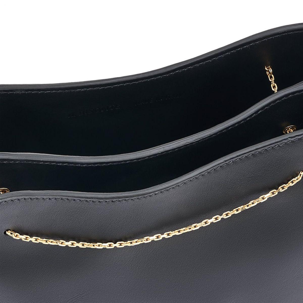 Giglio - Sac Epaule pour Femme en Cuir De Veau couleur Noir - Ligne Mediterranea BSH132 | Details