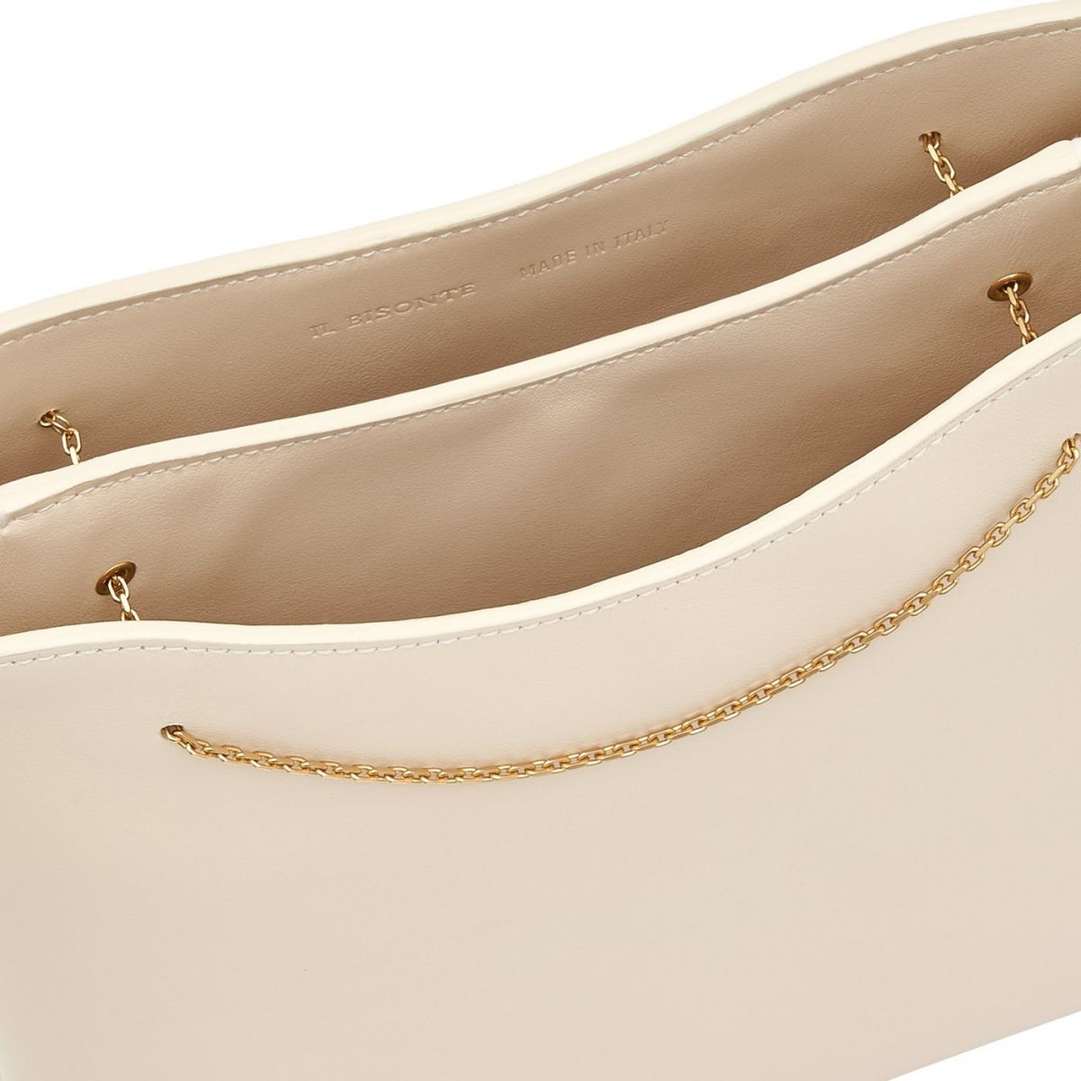 Giglio - Sac Epaule pour Femme Mediterranea en Cuir De Veau BSH132 couleur Laine | Details