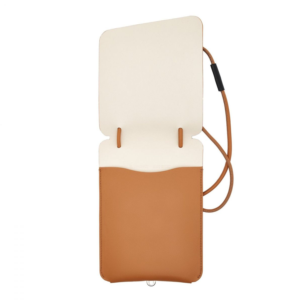Petite Pochette - Women's Shoulder Bag New Nomad in Calf Leather BSH135 color Natural | Details
