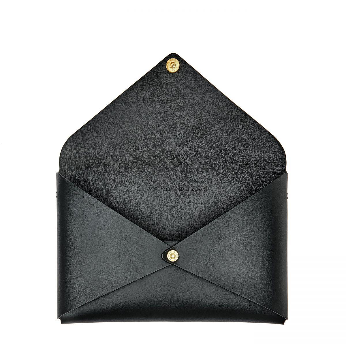 Titania - Women's Shoulder Bag in Calf Leather color Black - BSH137   Details