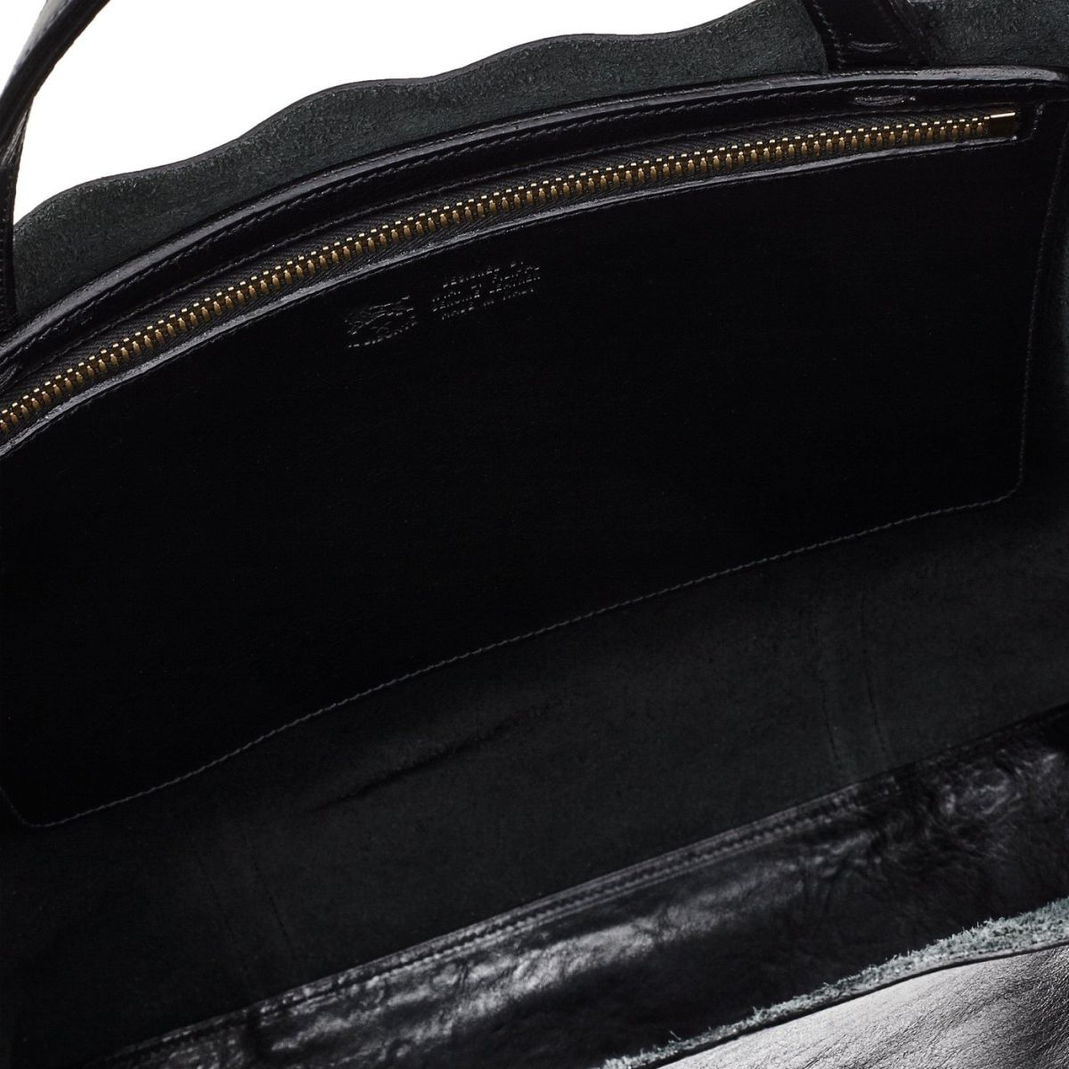Women's Handbag in Cowhide Double Leather BTH005 color Black | Details