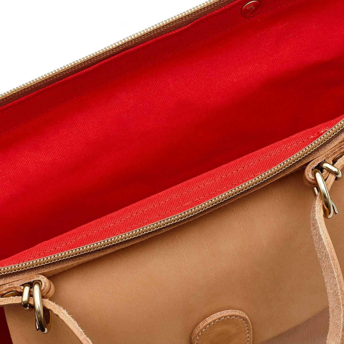 Maremmana  - Women's Handbag  in Cotton Canvas BTH012 color Red/Natural | Details