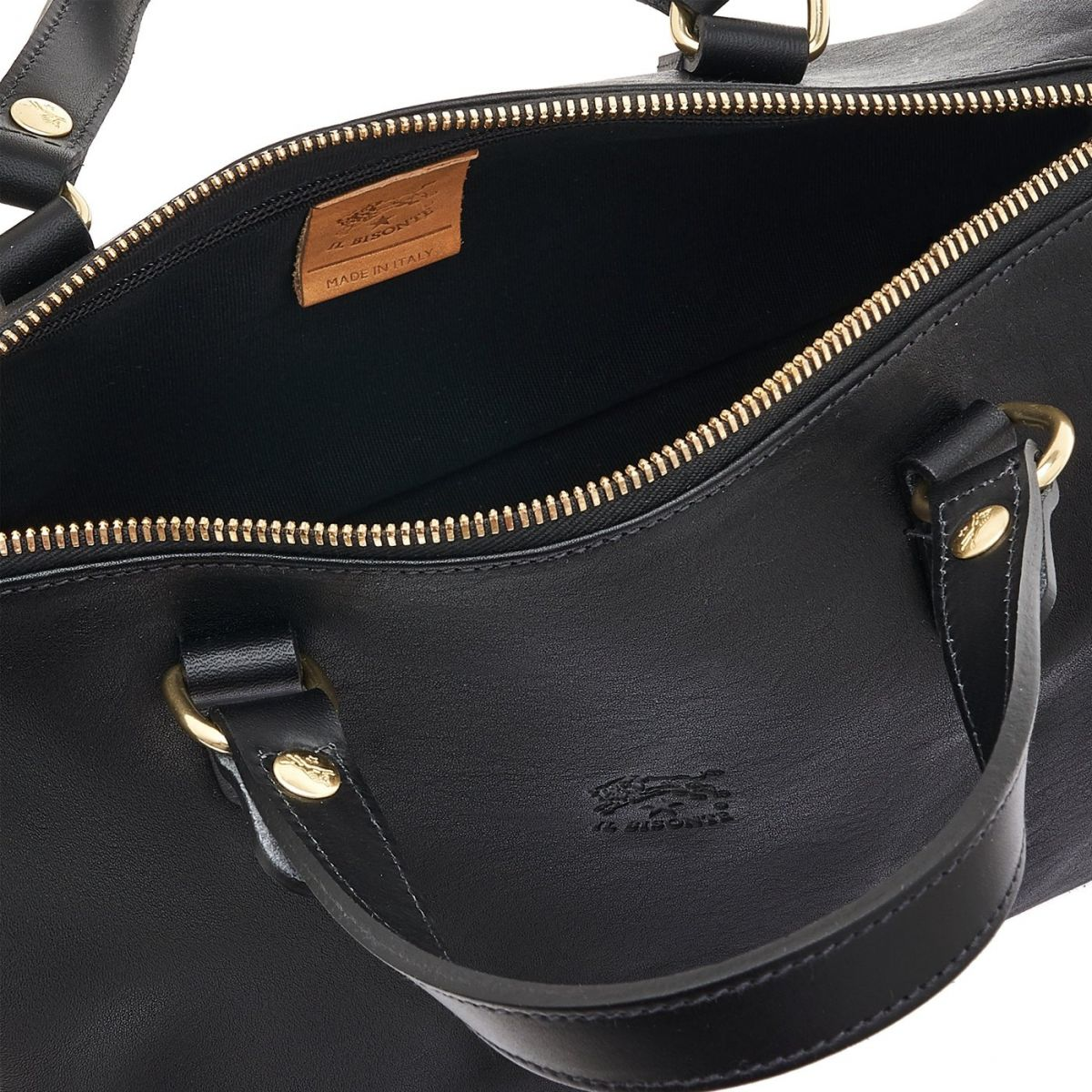 Women's Handbag in Vintage Cowhide Leather BTH019 color Black | Details