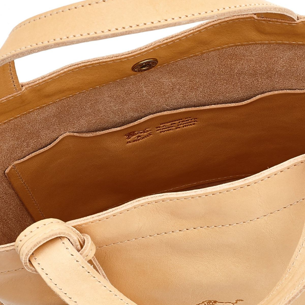 Women's Handbag Stibbert in Cowhide Double Leather BTH045 color Natural | Details