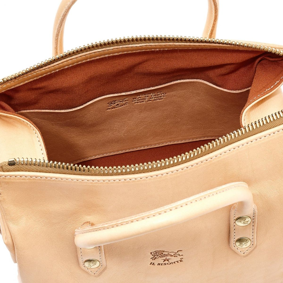Women's Handbag Pratolino in Cowhide Double Leather BTH049 color Natural | Details