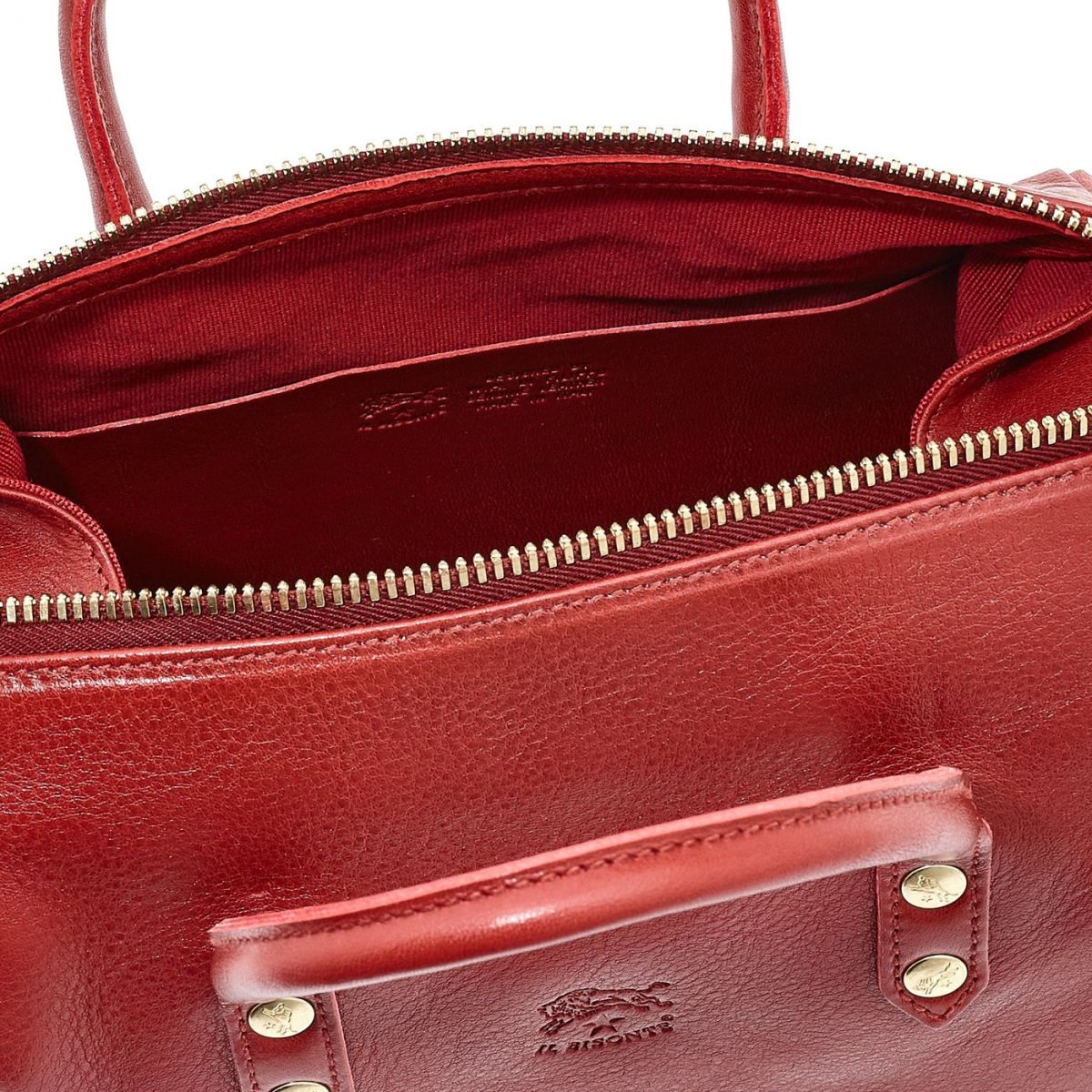 Women's Handbag Pratolino in Cowhide Double Leather BTH049 color Red | Details