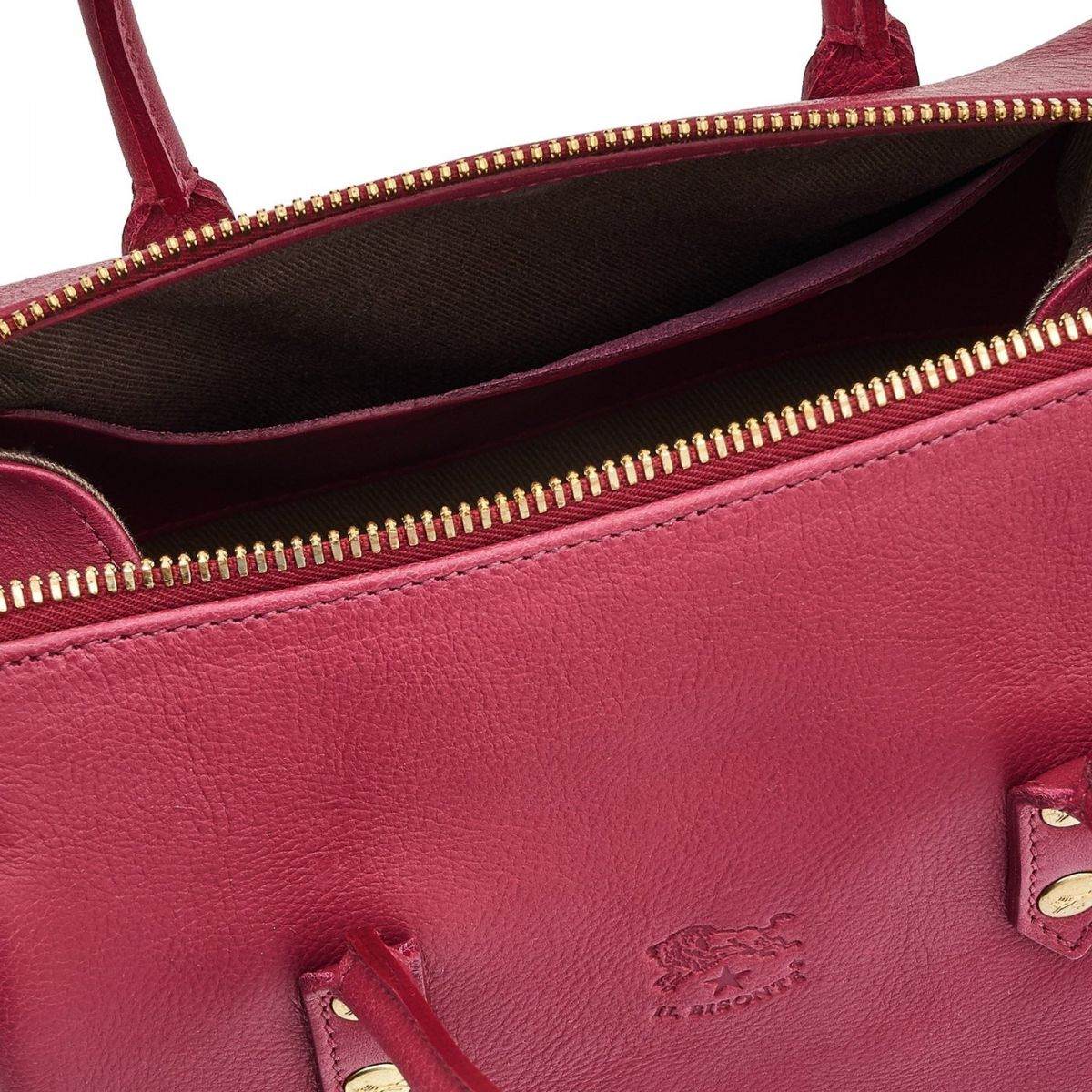 Sac A Main pour Femme Pratolino en Cuir De Vachette BTH049 couleur Sumac | Details