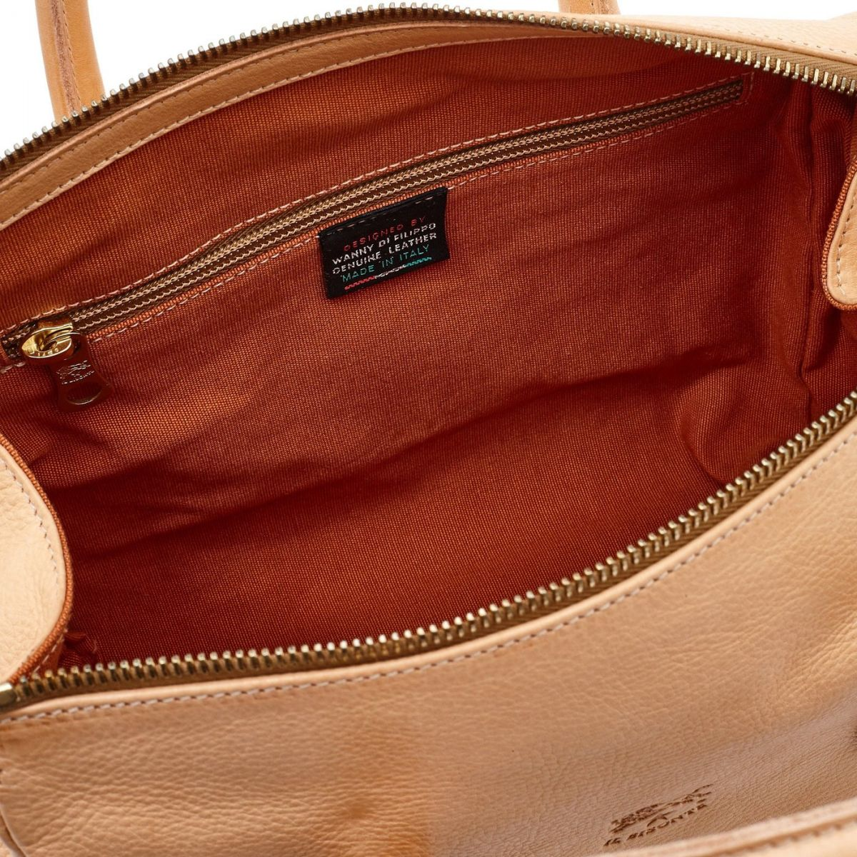 Women's Handbag Pratolino in Cowhide Double Leather BTH050 color Natural | Details