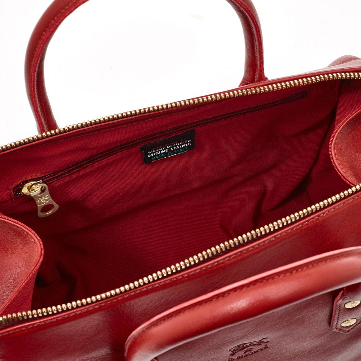 Women's Handbag Pratolino in Cowhide Double Leather BTH050 color Red | Details