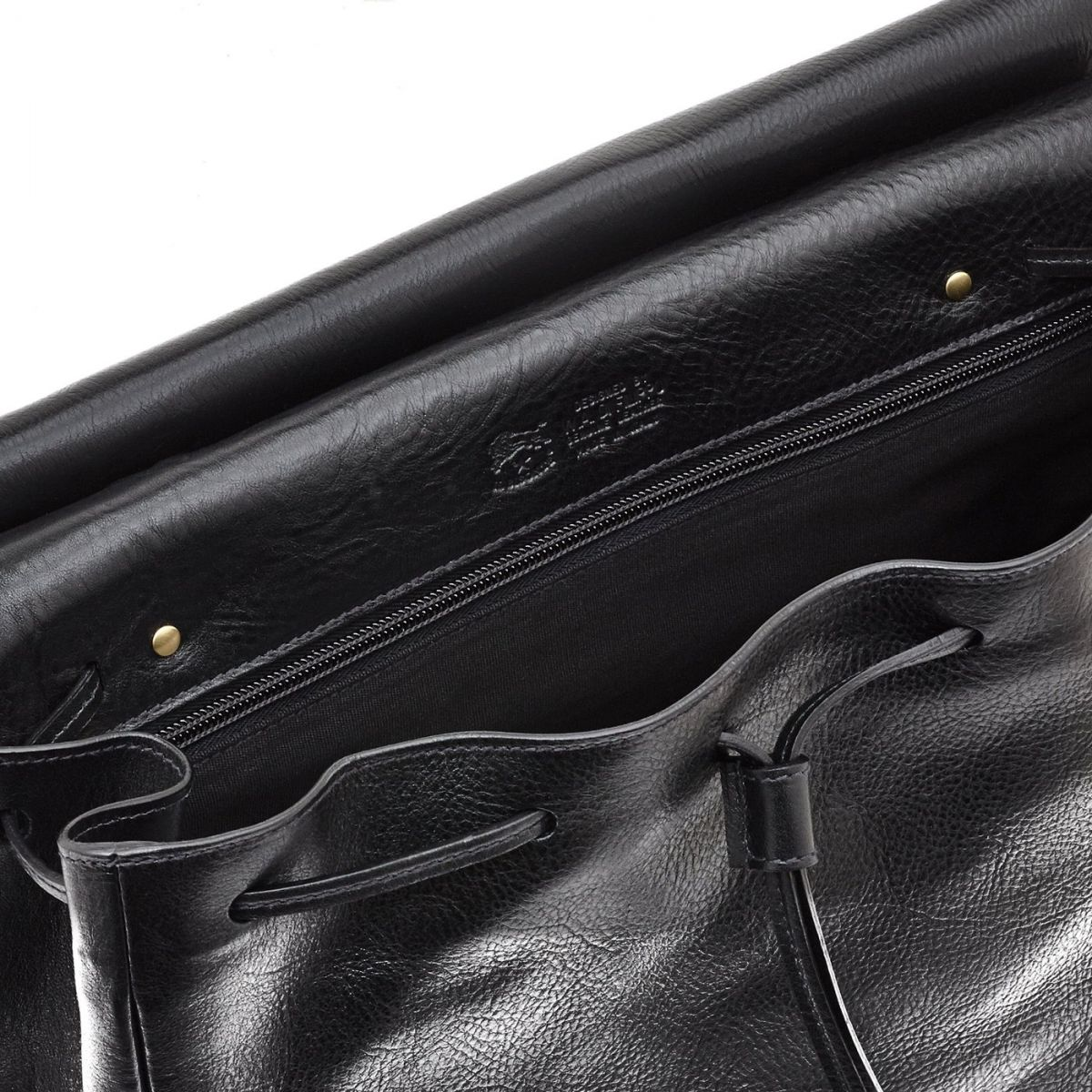 Women's Handbag Tornabuoni in Cowhide Double Leather BTH051 color Black | Details