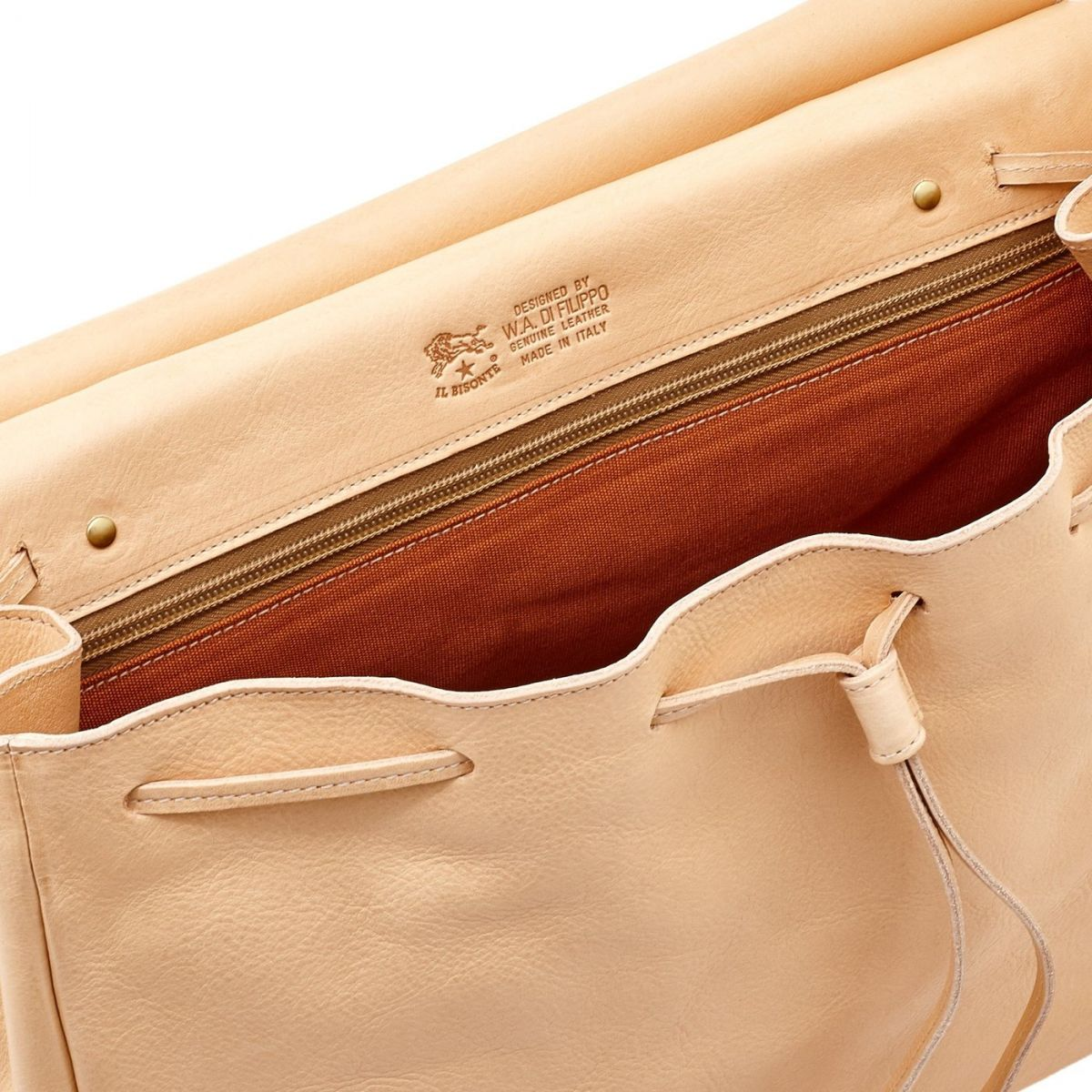 Women's Handbag Tornabuoni in Cowhide Double Leather BTH051 color Natural | Details