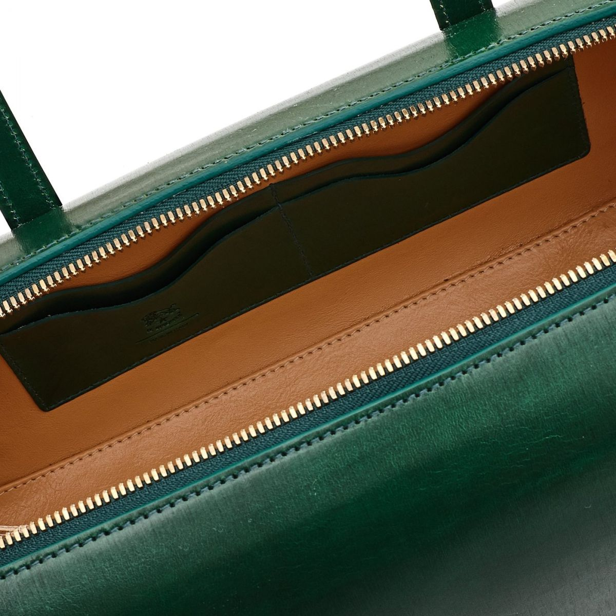 Women's Handbag  in Leather BTH103 color Green | Details