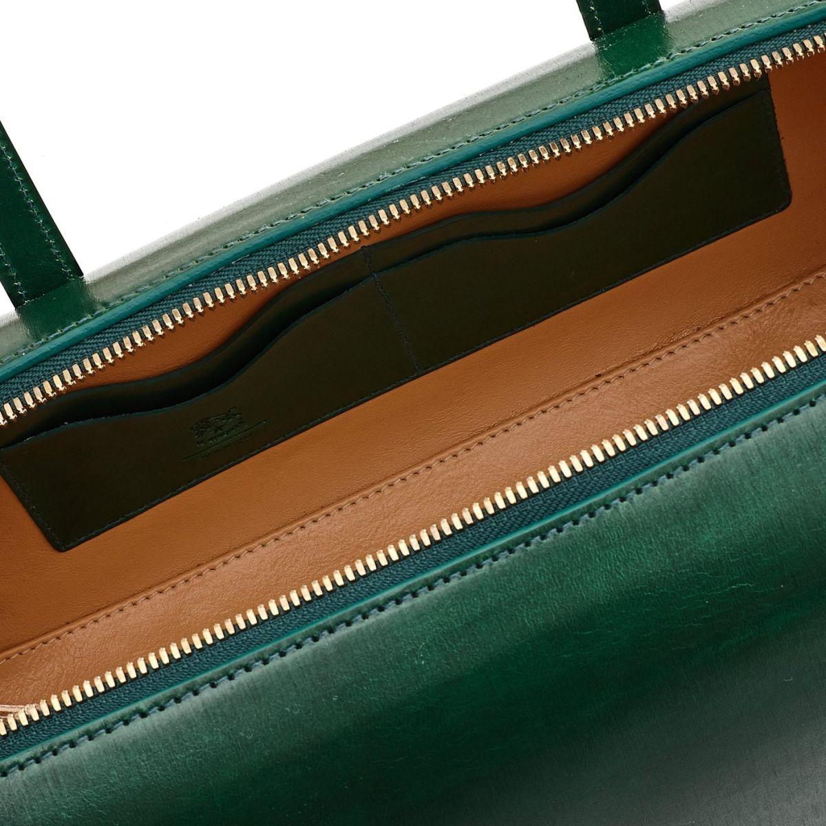 Borsa A Mano da Donna  in Cuoio BTH103 colore Verde | Details