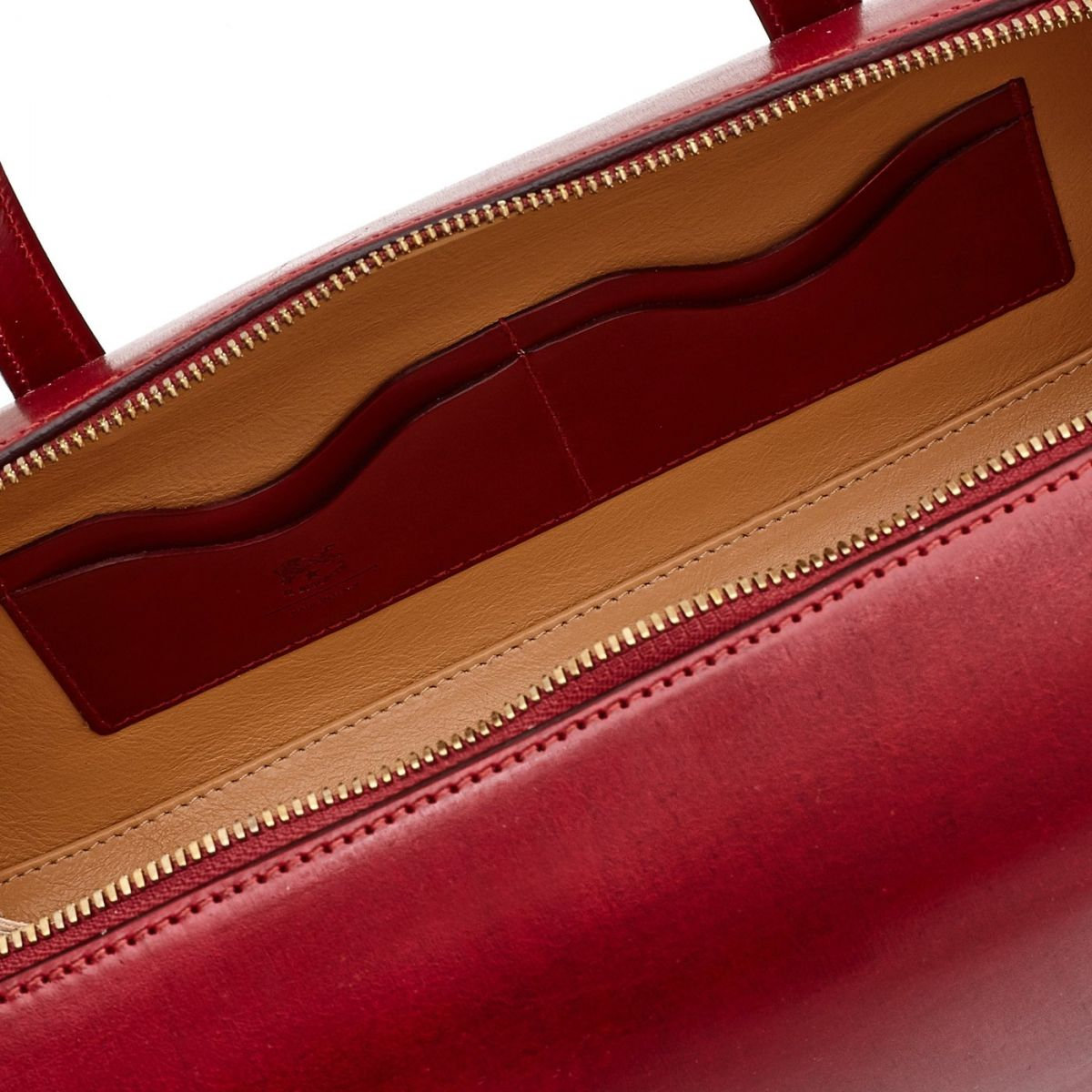 Women's Handbag  in Leather BTH103 color Red | Details