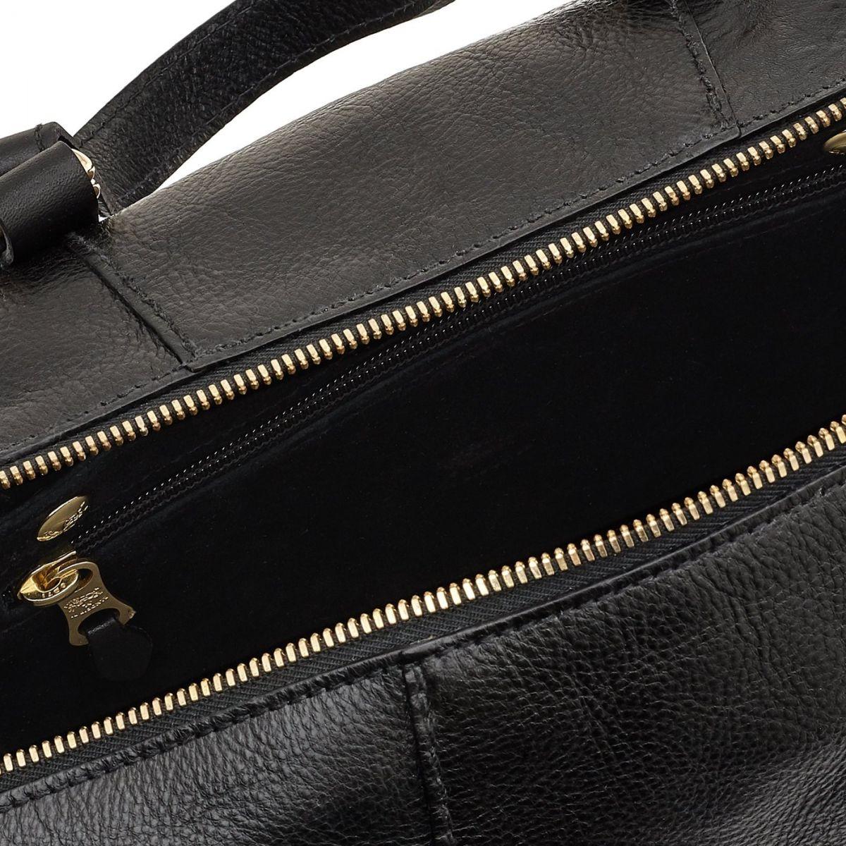 Women's Handbag Stromboli in Cowhide Leather BTH105 color Black | Details