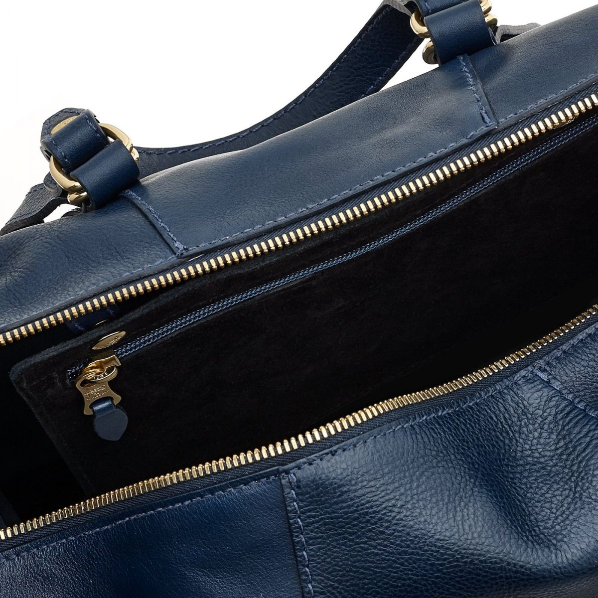 Women's Handbag Stromboli in Cowhide Leather BTH105 color Blue | Details