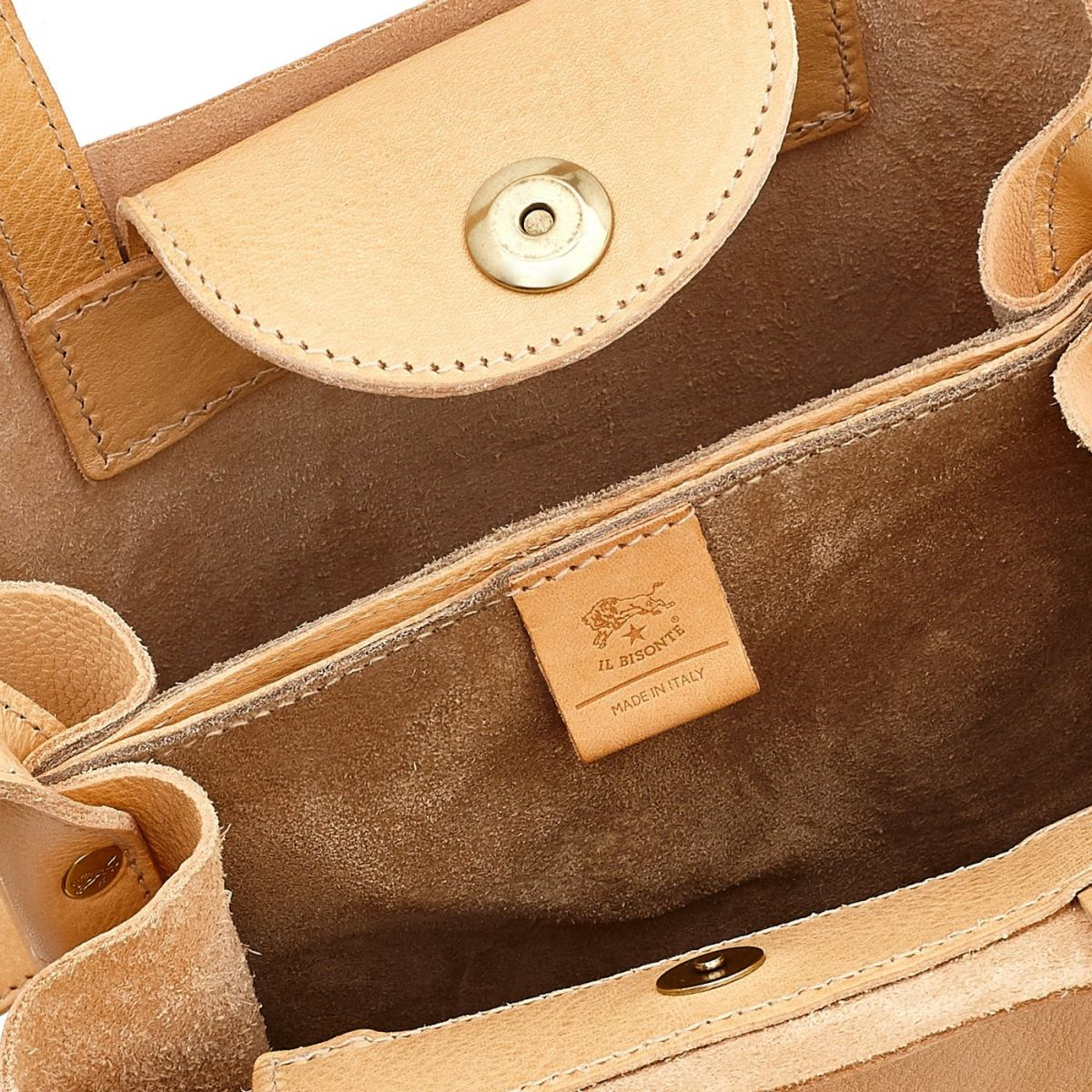 Women's Handbag  in Cowhide Leather BTH106 color Natural | Details