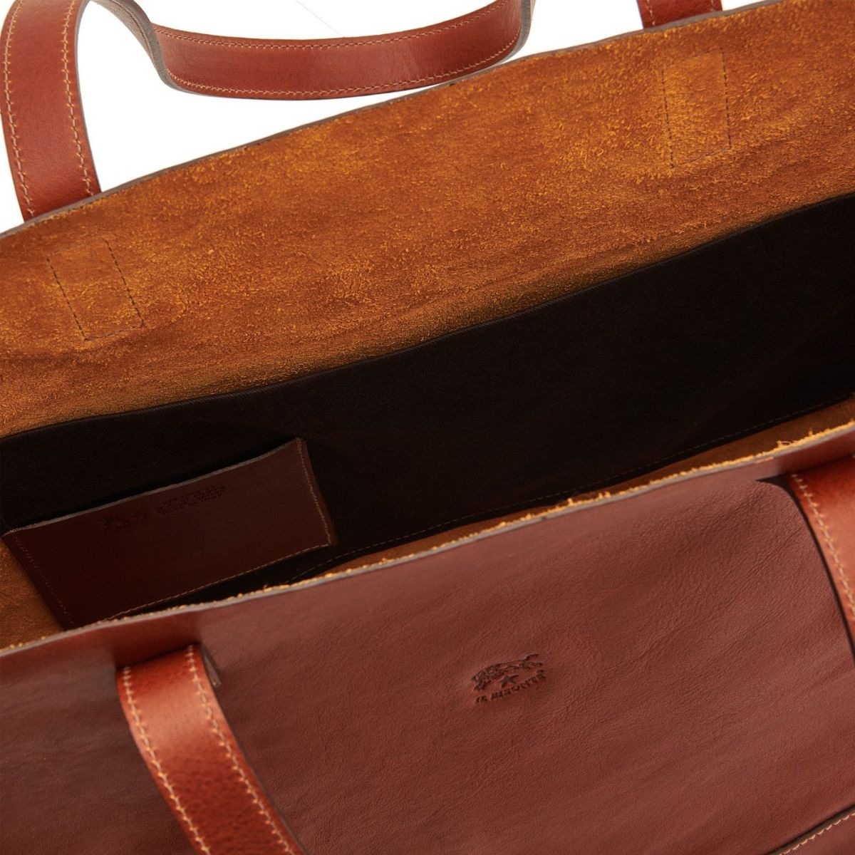 Women's Tote Bag New Icon in Vintage Cowhide Leather BTO010 color Dark Brown Seppia | Details