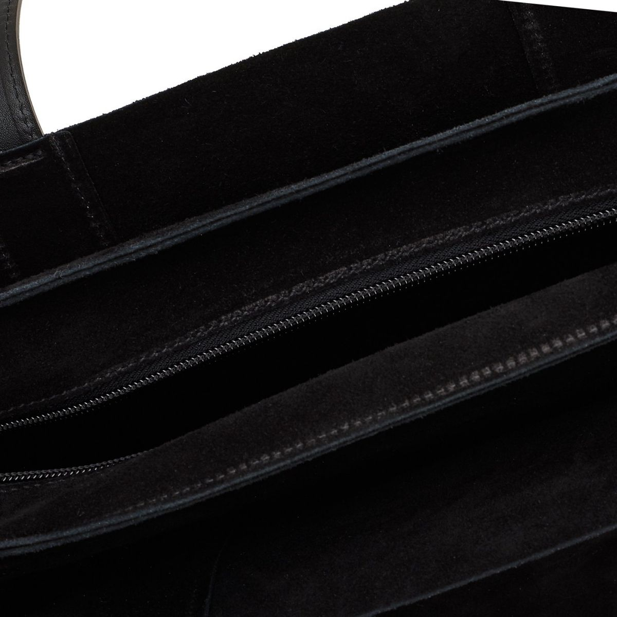 Men's Tote Bag  in Suede BTO039 color Black | Details