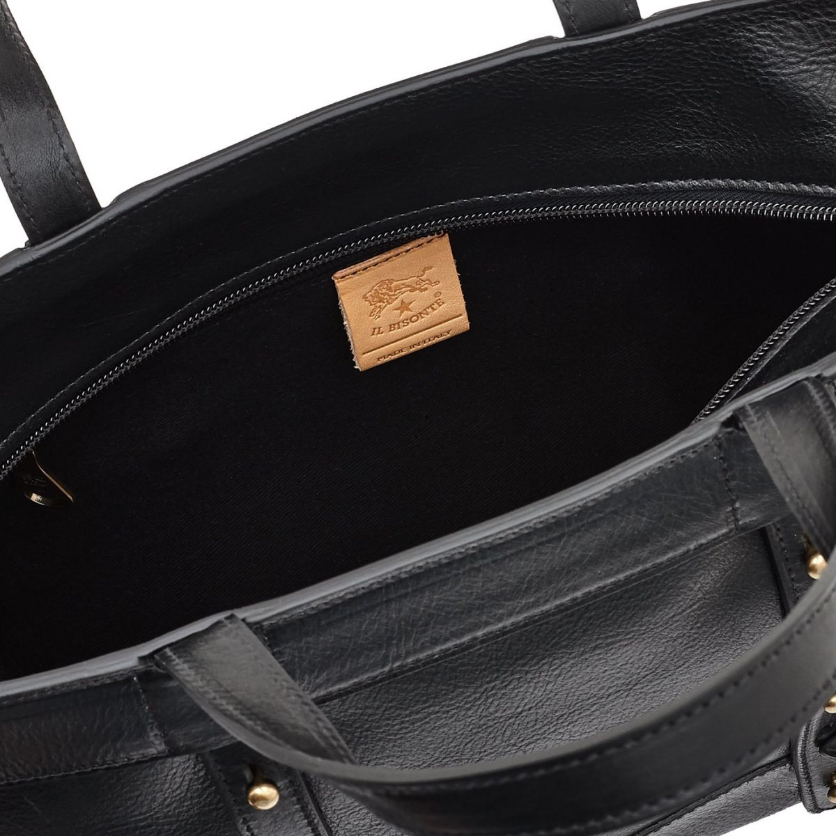 Women's Tote Bag Cristina in Cowhide Leather BTO041 color Black | Details