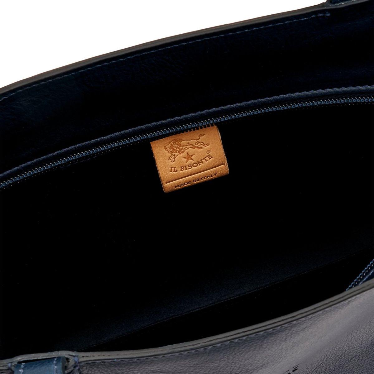 Shopping da Donna New Icon in Pelle Di Vacchetta BTO055 colore Blu | Details