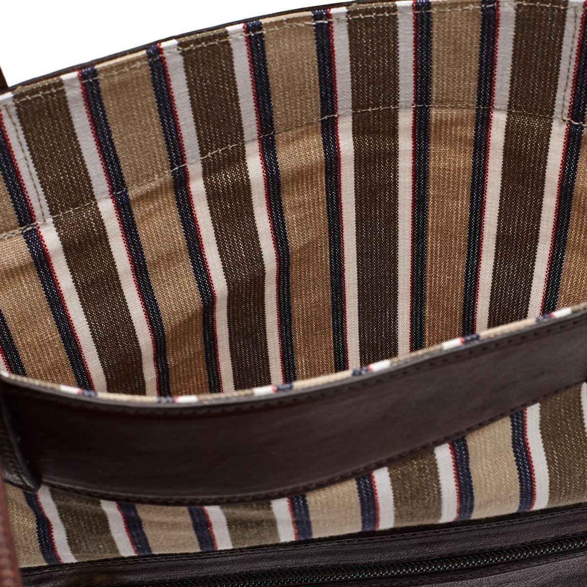 Sac Fourre-Tout pour Femme  en Coton Avec Rayures BTO082 couleur Multicolor | Details