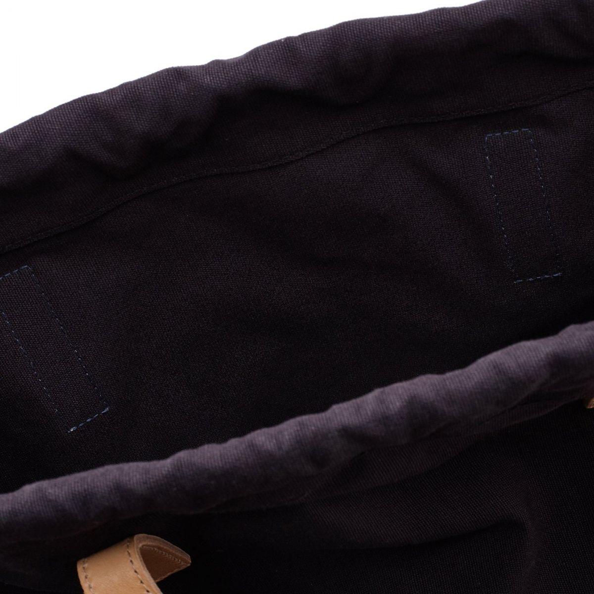Women's Tote Bag  in Cotton Canvas BTO088 color Blue | Details