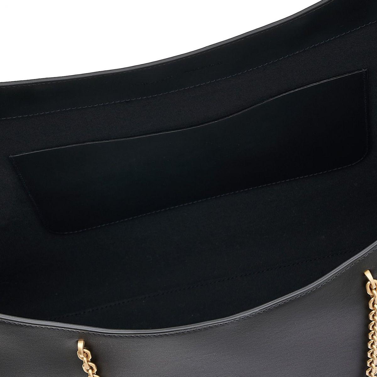 Elba - Women's Tote Bag in Calf Leather color Black - Mediterranea line BTO096 | Details