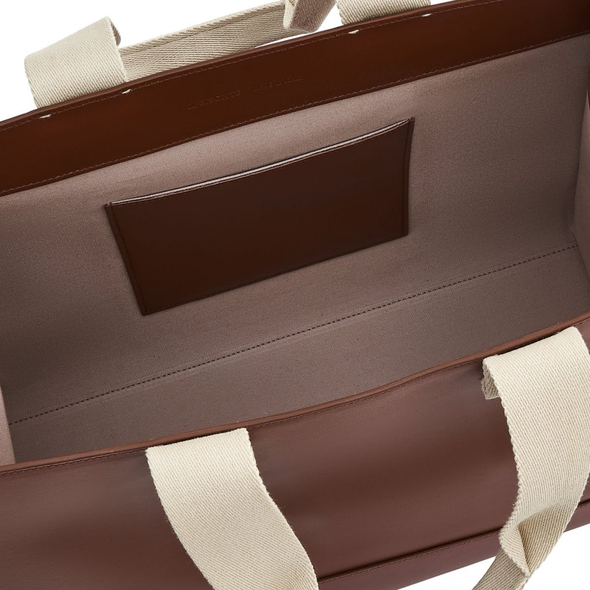 Sole - Tote Bag Fifty On in Calf Leather BTO098 color Tobacco | Details