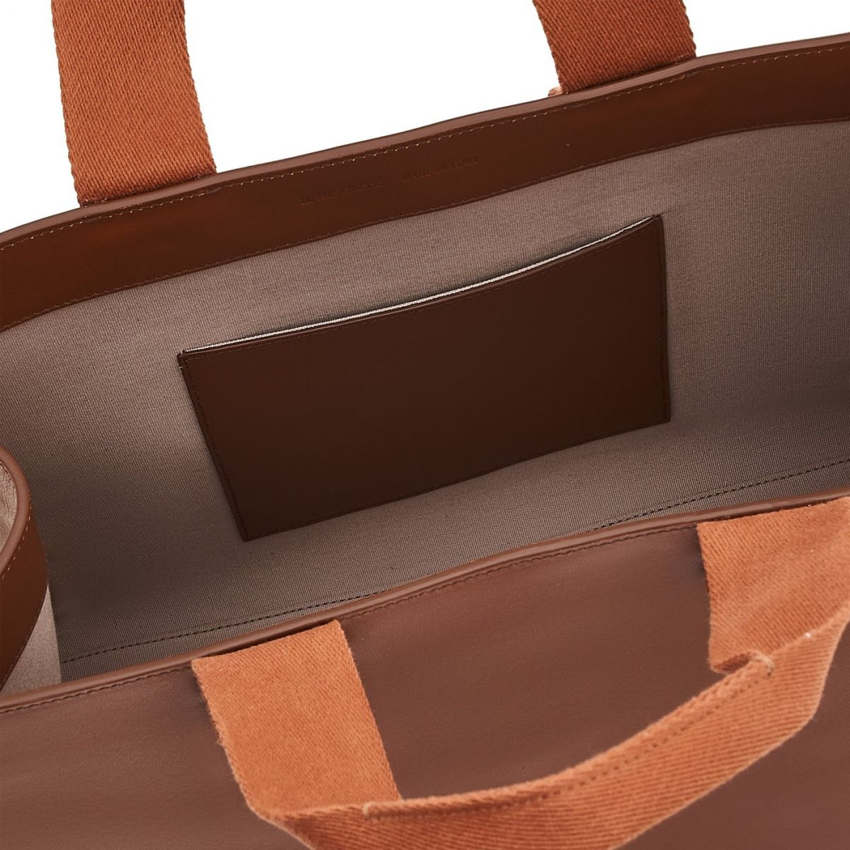 Sole - Tote Bag in Cowhide Leather color Tobacco - Fifty On line BTO098 | Details
