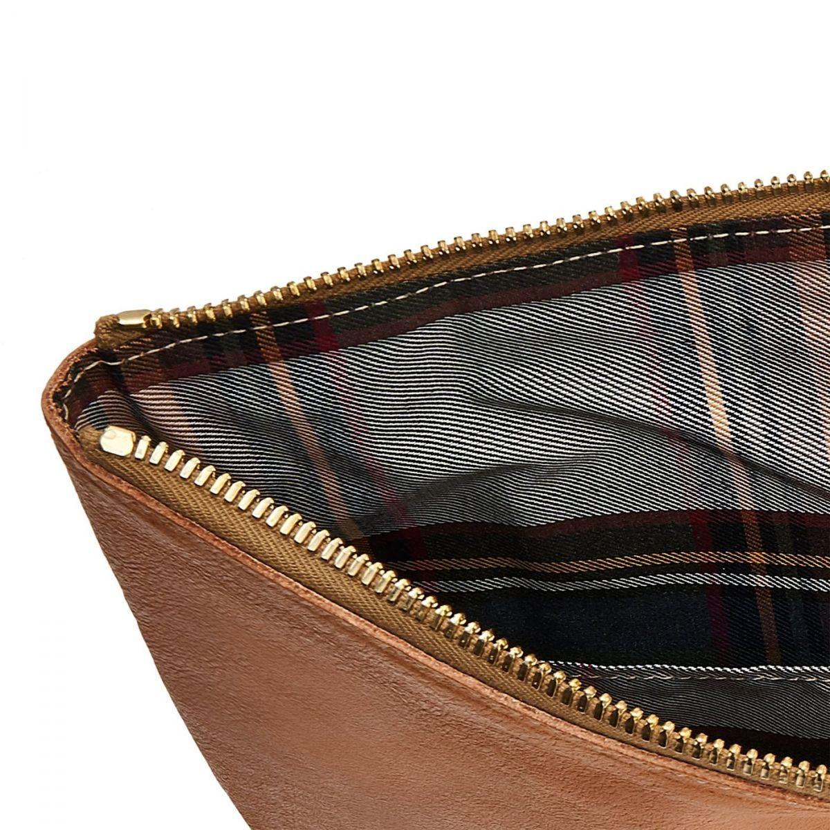 Portfolio in Vintage Cowhide Leather color Natural - OSL002 | Details