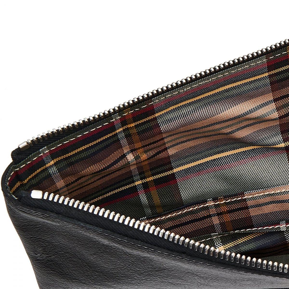 Portfolio in Cowhide Double Leather color Black - OSL002 | Details