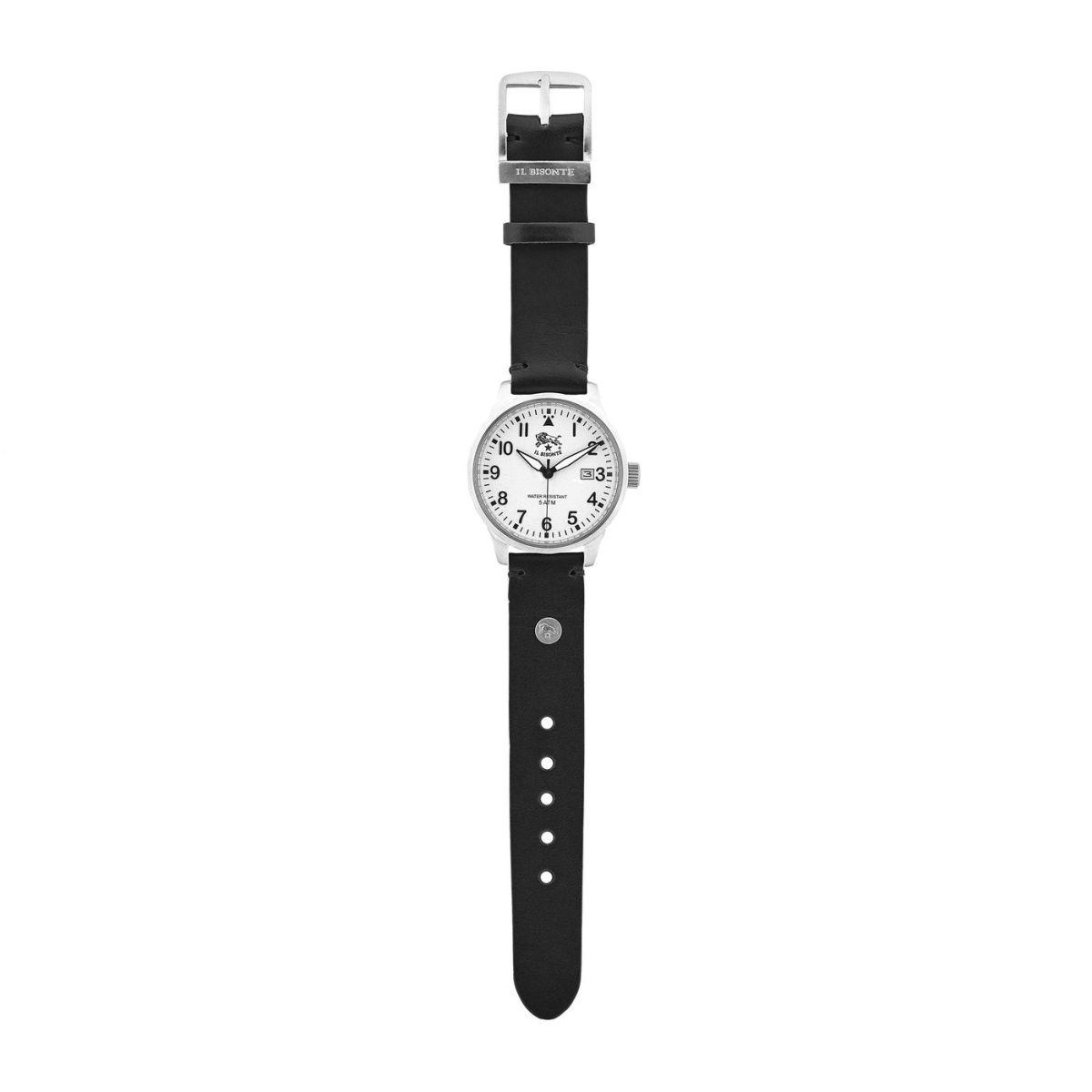 Orologio da Uomo  in Pelle Di Vacchetta OWA002 colore Nero | Details