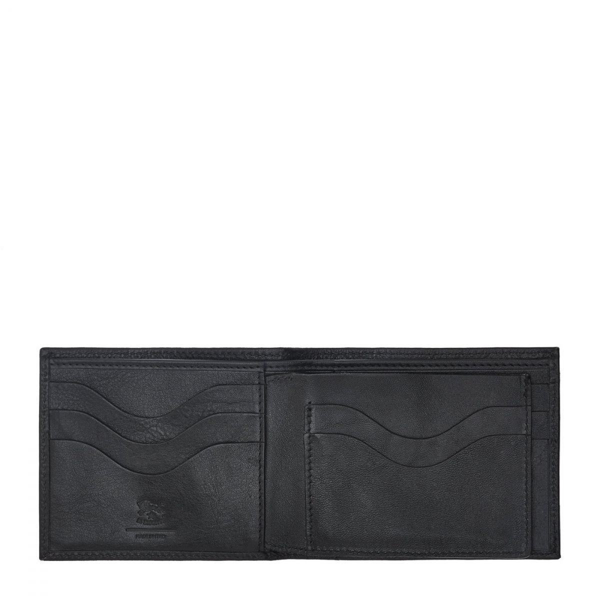 Men's Bi-Fold Wallet in Cowhide Leather color Black - SBW042 | Details