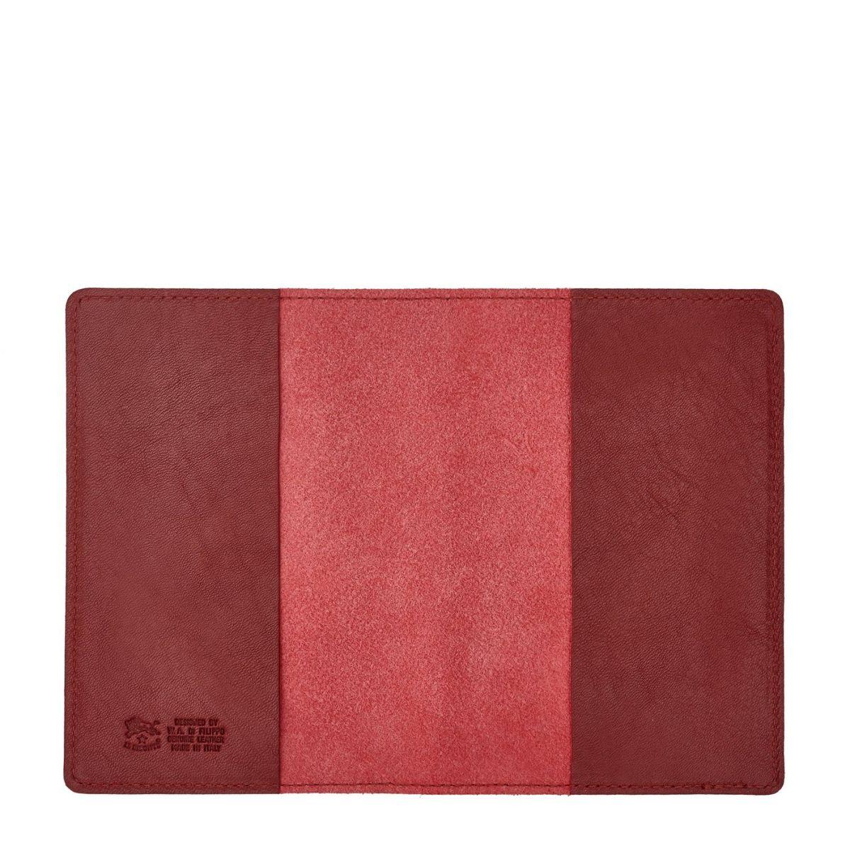 Étui  en Cuir De Vachette Doublé SCA005 couleur Rouge | Details