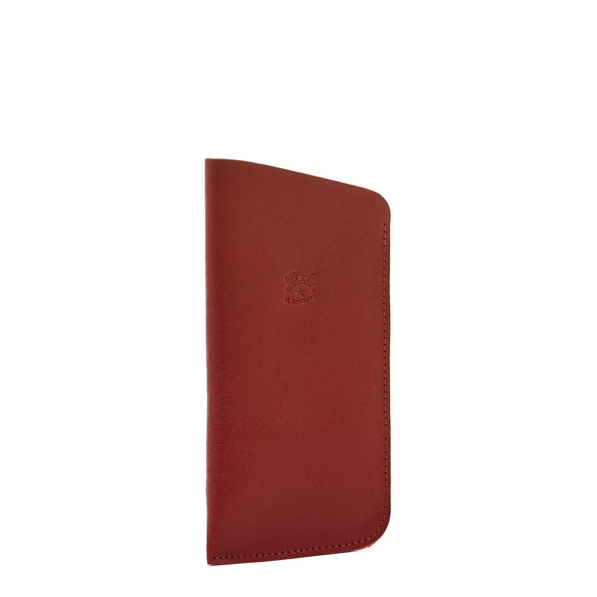 Case in Cowhide Double Leather color Red - SCA006 | Details