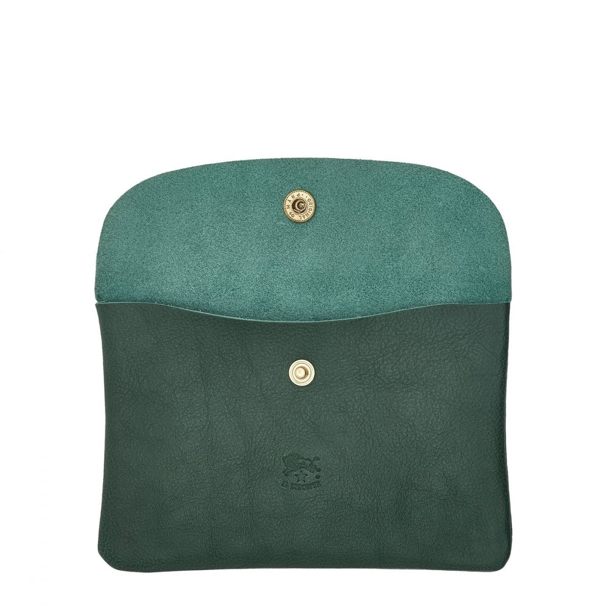 Case  in Cowhide Double Leather SCA007 color Green | Details