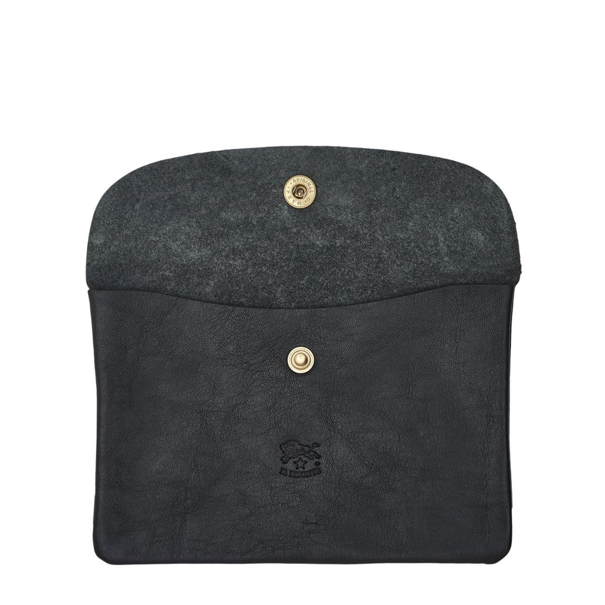 Case  in Cowhide Double Leather SCA007 color Black | Details