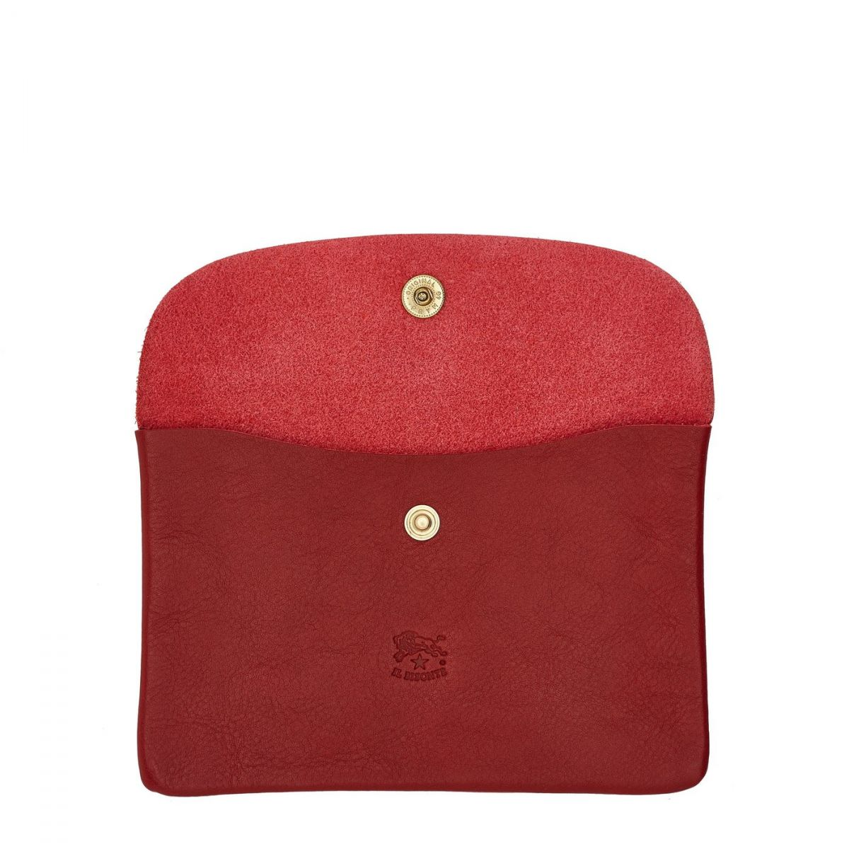 Case  in Cowhide Double Leather SCA007 color Red | Details