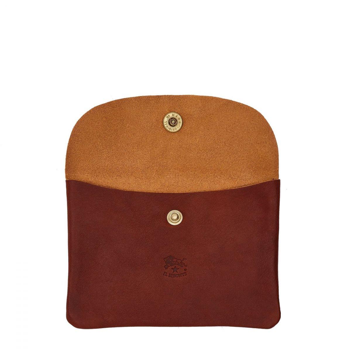 Case in Vintage Cowhide Leather SCA008 color Dark Brown Seppia | Details