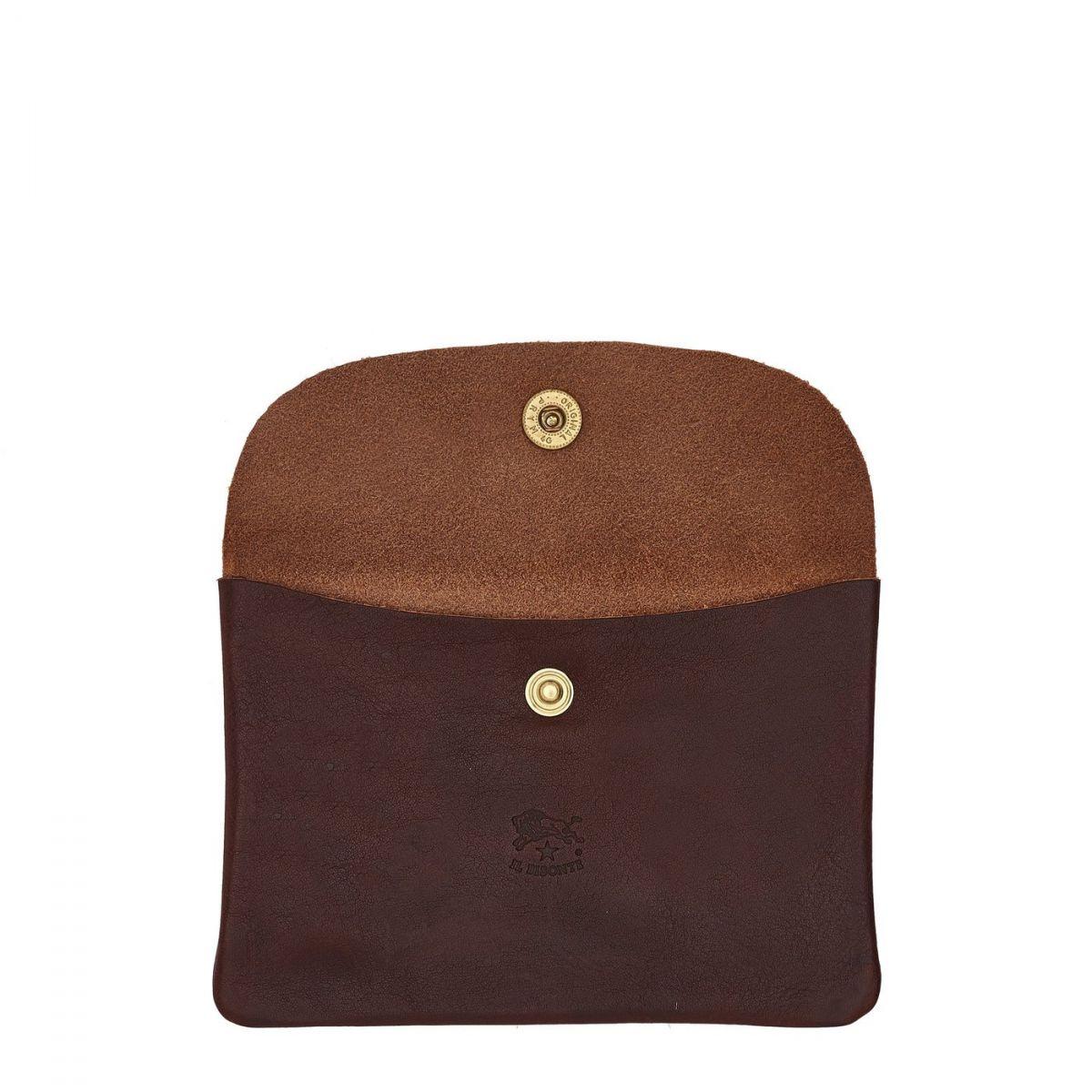 Case in Vintage Cowhide Leather SCA008 color Dark Brown | Details