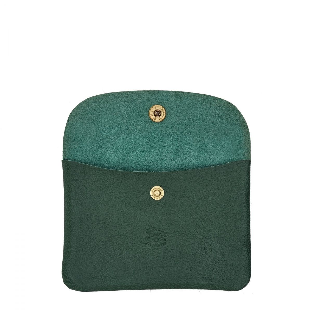 Case in Cowhide Double Leather SCA008 color Green | Details
