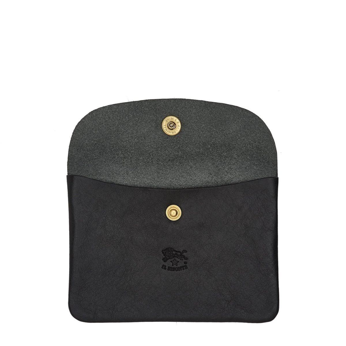 Étui  en Cuir De Vachette Doublé SCA008 couleur Noir | Details