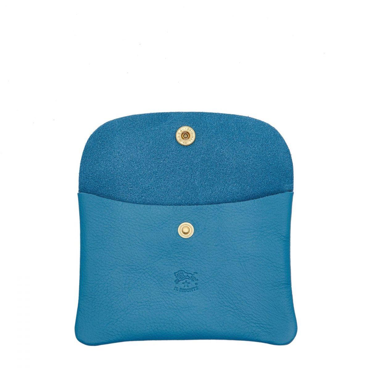 Étui en Cuir De Vachette couleur Bleu Sarcelle - SCA008   Details