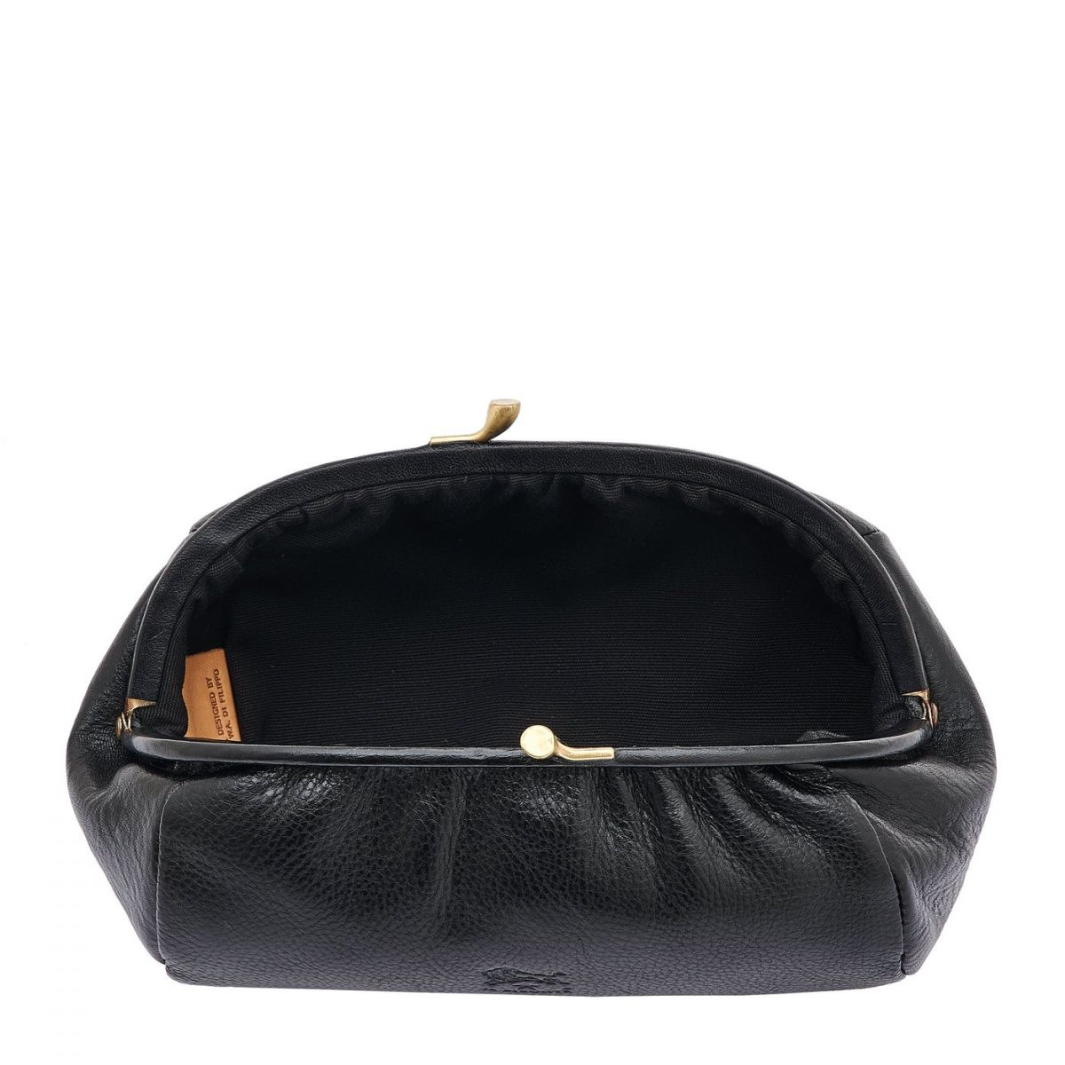 Women's Case  in Cowhide Double Leather SCA009 color Black | Details