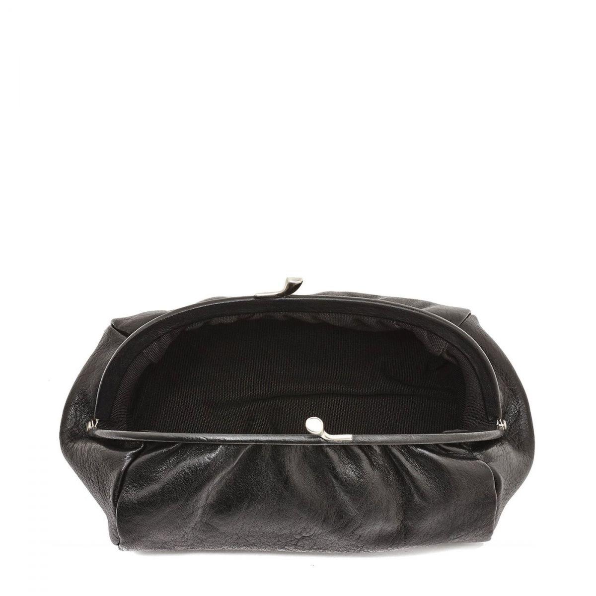 Étui pour Femme  en Cuir De Vachette Doublé SCA009 couleur Noir | Details